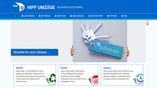 Webdesign Augsburg für Umzugsunternehmen