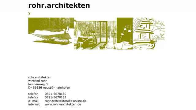 rohr.architekten Augsburg