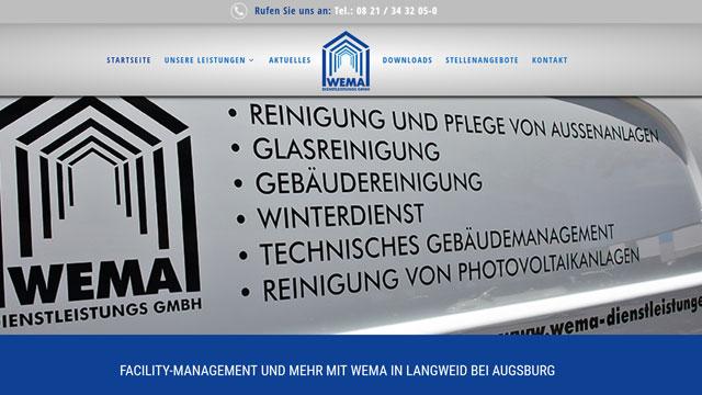 Webdesign Augsburg für Facility Management Gebäuderenigung