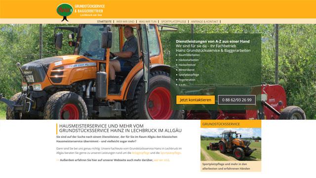Webdesign Augsburg für Grundstücksservice