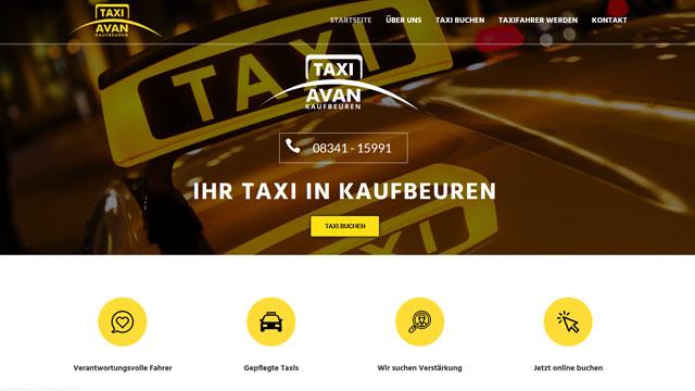 Webdesign Augsburg für Taxiunternehmen