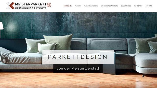 Webdesign Augsburg für Parkett-/Bodenverleger aus Augsburg