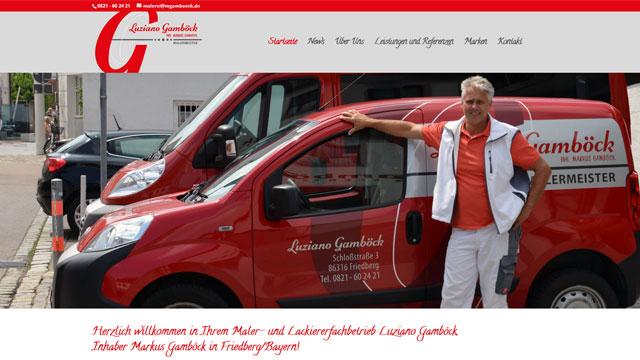 Webdesign Augsburg für Malermeister