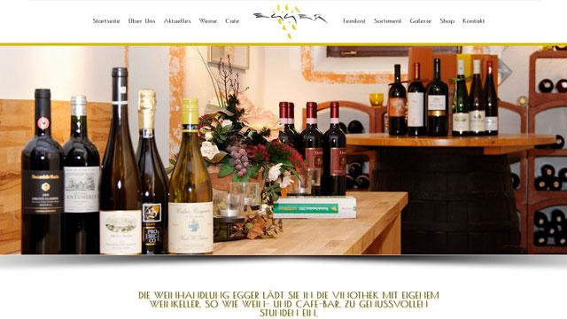 Webdesign Augsburg für Weinhandel