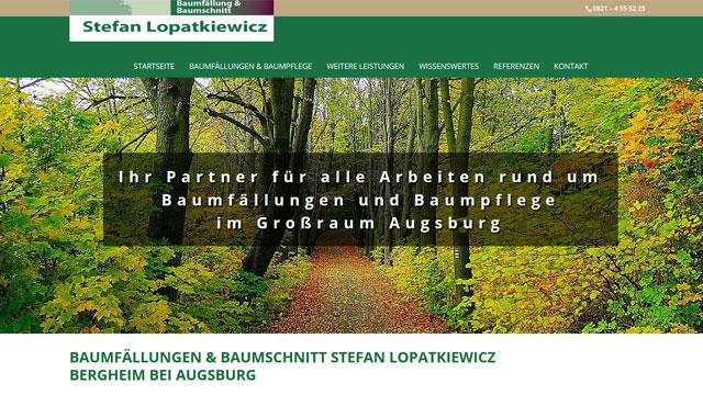 Webdesign Augsburg für Gartengestalter - Baumfällungen
