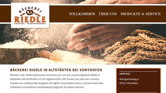 Webdesign Augsburg für Bäcker