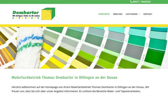 Webdesign Augsburg für Maler und Lackierer
