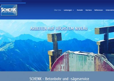 SCHENK – Betonbohr und -sägeservice Oberjoch im Allgäu