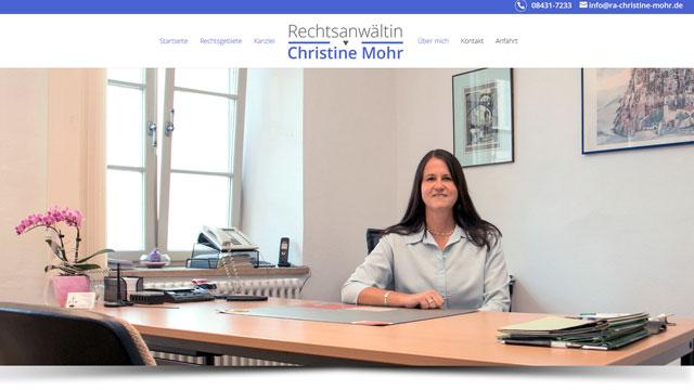 Rechtsanwältin Christine Mohr – Rechtsanwaltskanzlei in Neuburg an der Donau