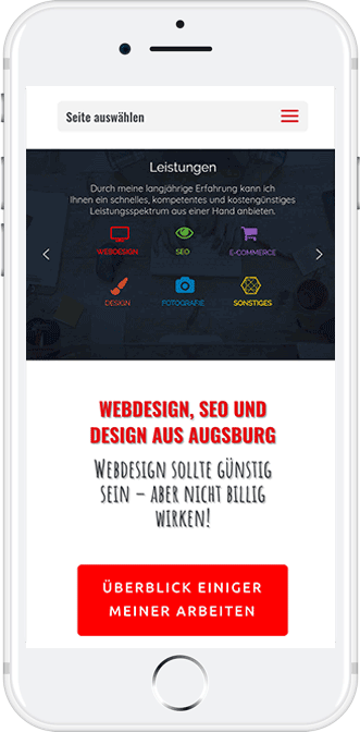 Mobil Webdesign Augsburg