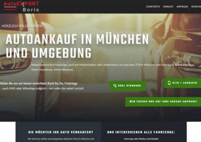 Autoexport Boris Petrunok  – Autoankauf in München – Gebrauchtwagenhändler München und Umgebung
