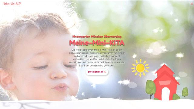 Professionelle Homepage für Kinderbetreuung in München